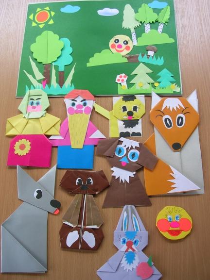 Оригами колобка сказки своими руками 80