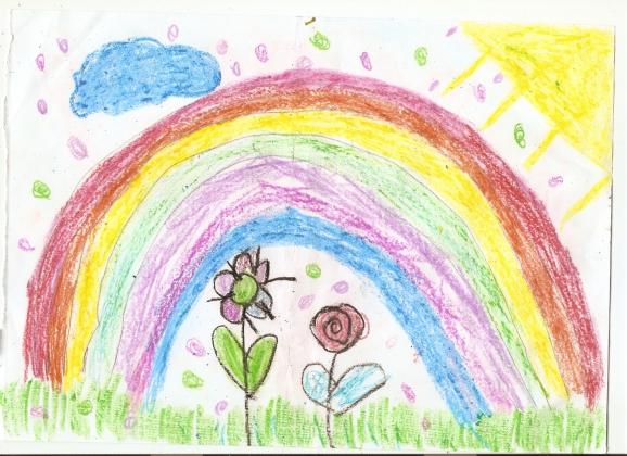Детские рисунки на конкурс радуга