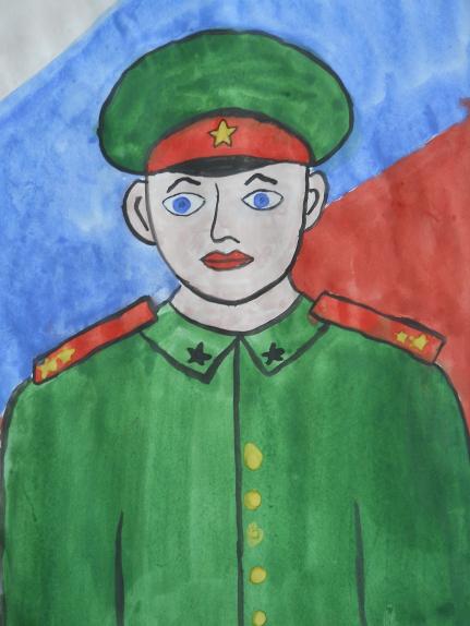 Как нарисовать военного папу