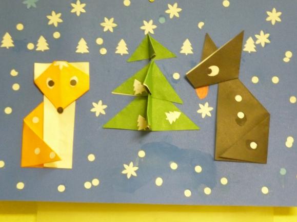 Оригами и аппликации животные