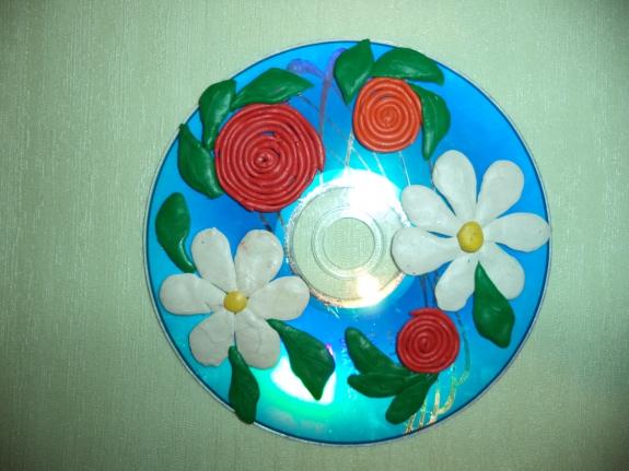 Поделки из пластилина и ватных дисков
