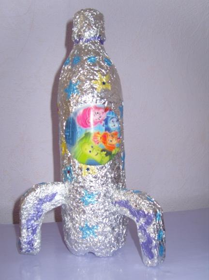Поделки из бутылок с дошкольниками