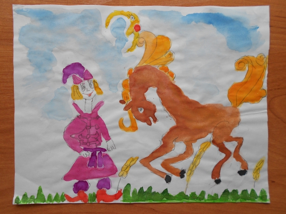 Сивка бурка рисунки детские
