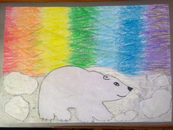 Как нарисовать северное сияние карандашами поэтапно 23