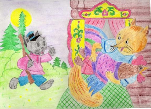 большинства сказка кот и лиса картинки нарисовать одно самых