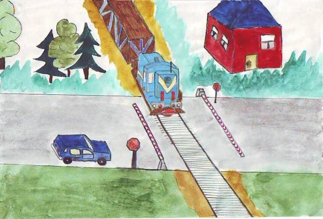 Картинка железнодорожные пути для детей, привет