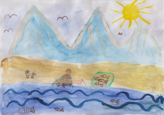 Детские рисунки реки обь