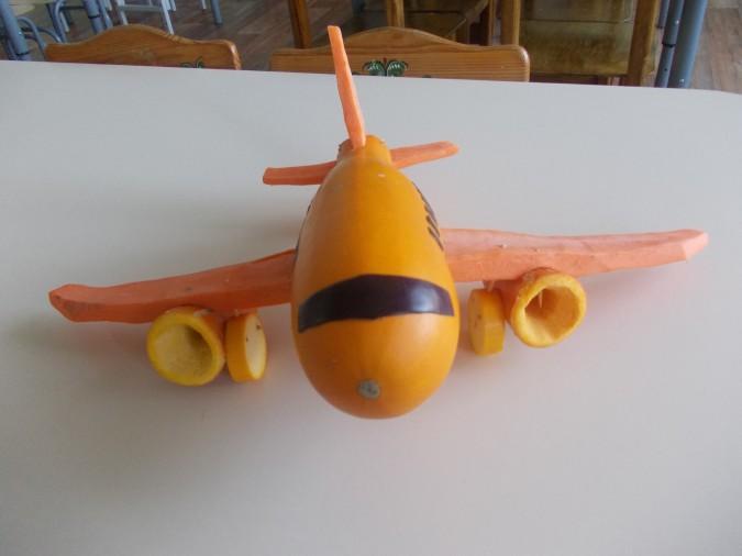 Поделка из кабачка самолёт 22