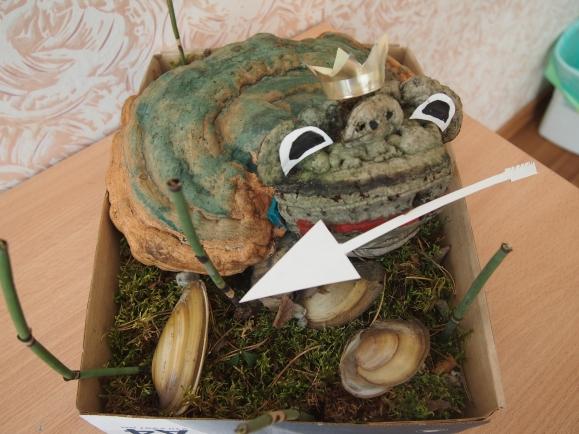 Лягушка из природного материала своими руками фото