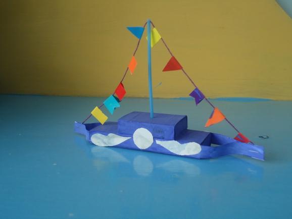 Как сделать из коробки спичек кораблик