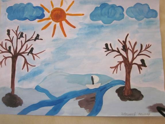 Нарисуй картинку про весну рисование в средней группе, добрым