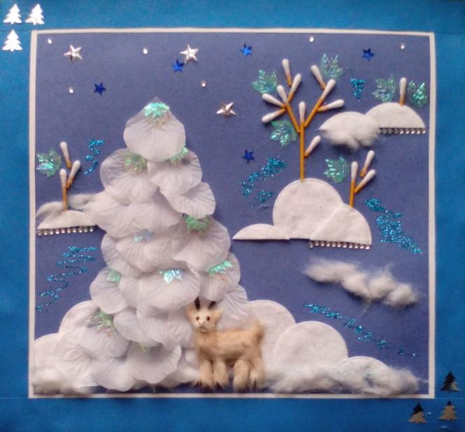 Картинки с надписью зимние поделки