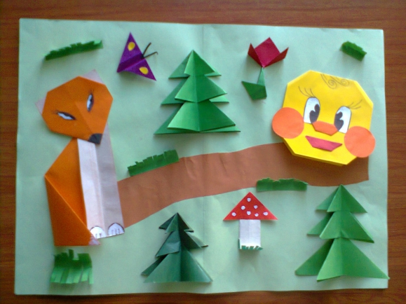 Сказки колобок оригами