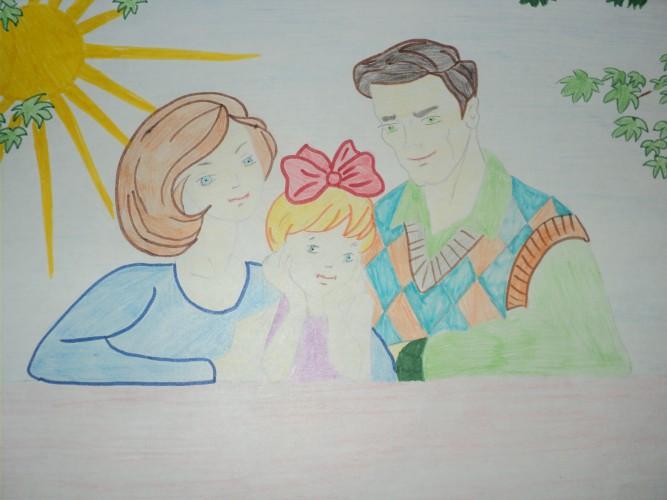 Рисунки детей на конкурс на тему моя семья
