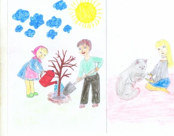 Конкурс рисунков нам жизнь дана на добрые дела