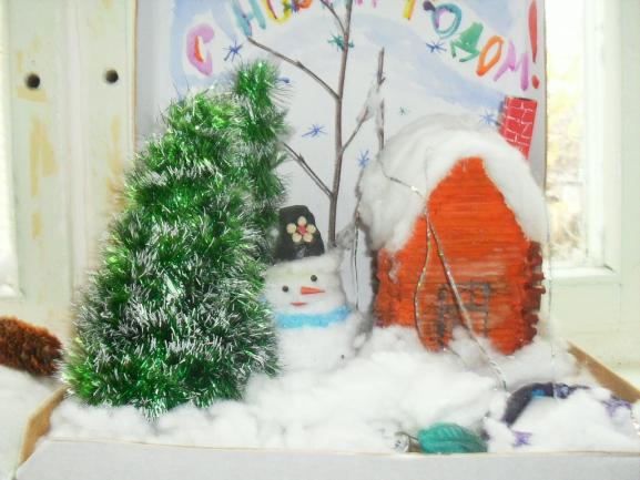 Новогодняя поделка сказочный лес