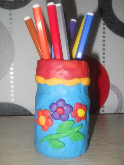 Картинки как сделать вазу из пластилина