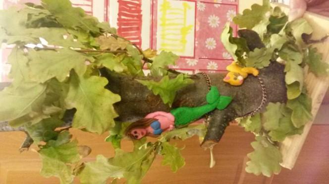 Поделки из природного материала у лукоморья дуб зеленый 20