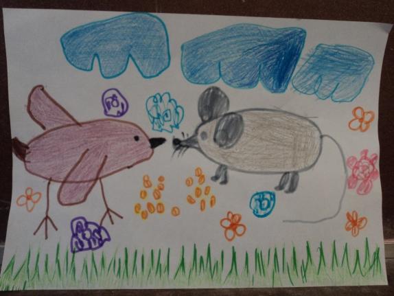 Картинка мышь и воробей