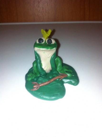 лягушка царевна из пластилина картинки длинными сантехническими шурупами