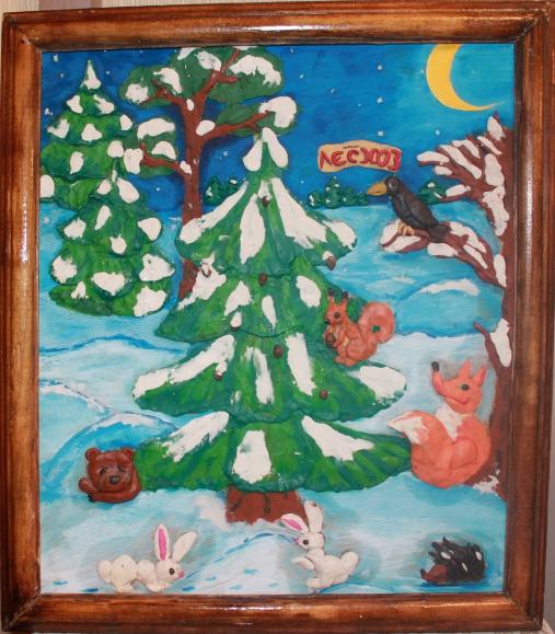 Рисунки для лепки из пластилина зима
