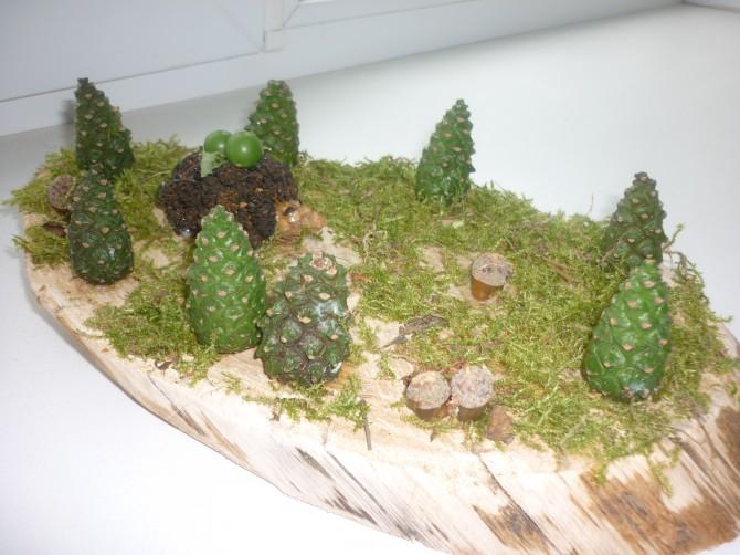 Поделка из природного материала полянка 50