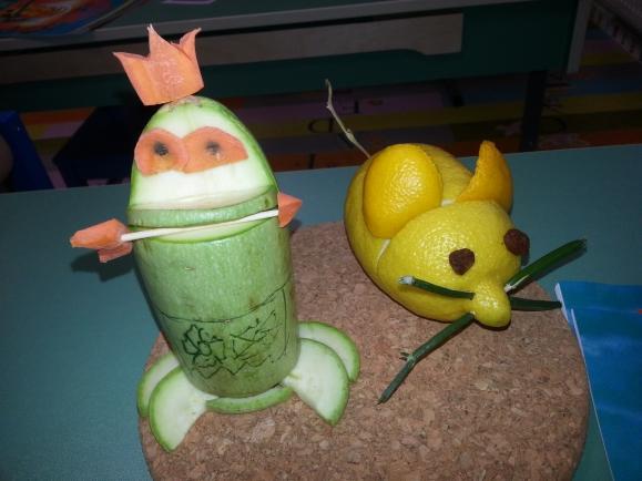 Лягушка из овощей поделка фото 81