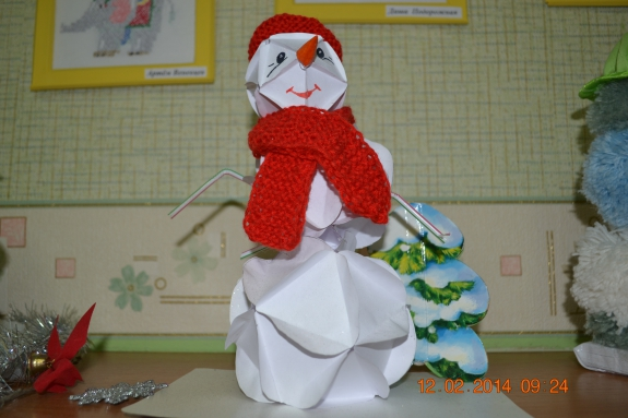 Как сделать снеговика на ватмане