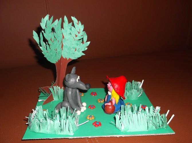 Поделка в сад красная шапочка 56