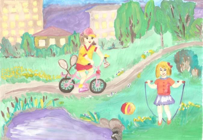 Рисунок мои мечты о летних каникулах