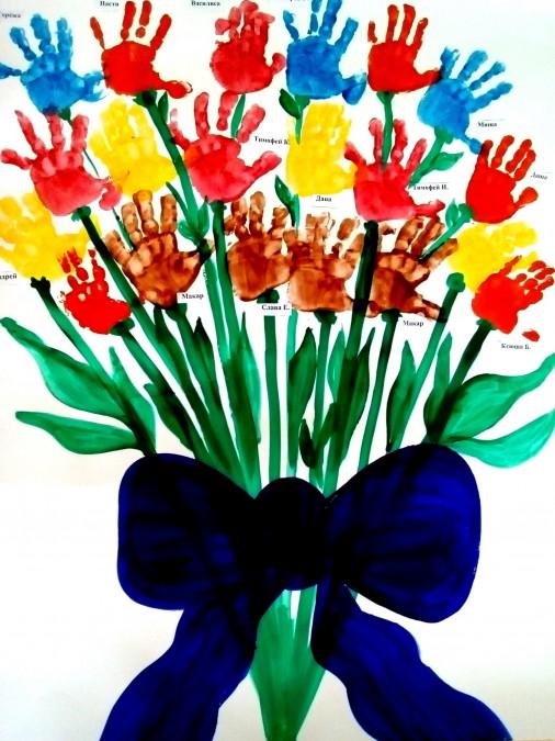 опровергло рисунки коллективная работа тюльпаны ладошками сорт такой попался