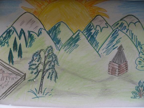 Рисунок на конкурс мой алтай