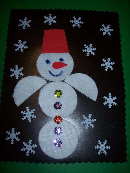 Поделки снеговики для дошкольников