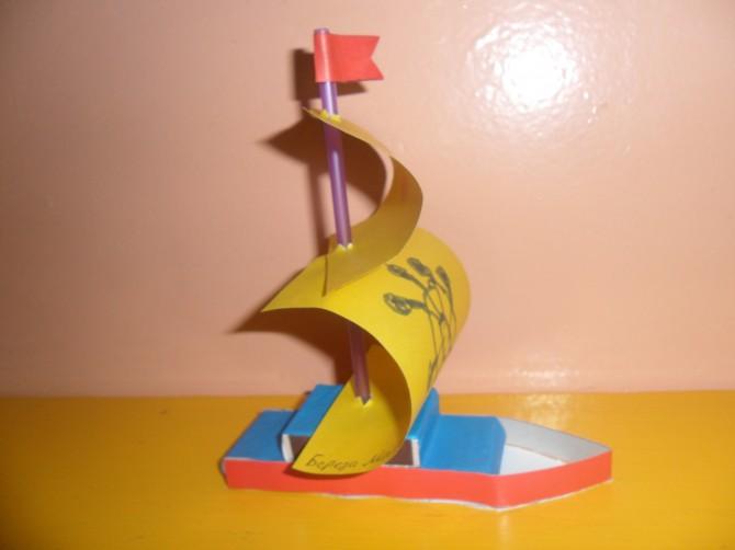 Поделка кораблик детский сад 2