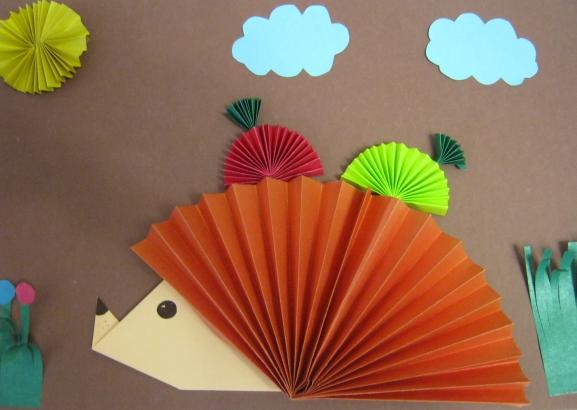 Как из бумаги сделать ежика оригами