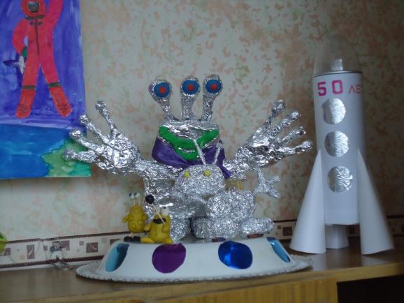 Как сделать инопланетянина своими руками из подручных