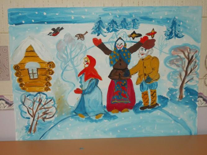 его картинка к сказке снегурочка нарисовать современной моде