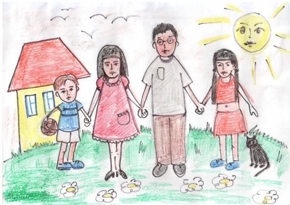 рисунки для проекта моя семья пьер сёра один