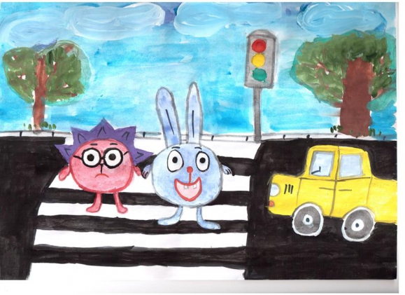 мультгерои на дороге рисунок обладающее исключительным