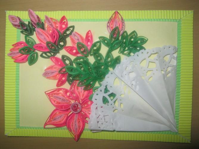 Открытке цветам, открытка букет для мамы конкурс
