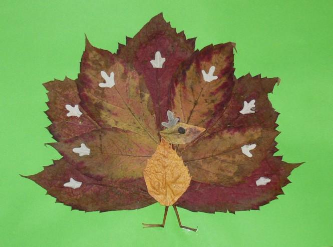 Детские поделки на тему осень своими руками из листьев