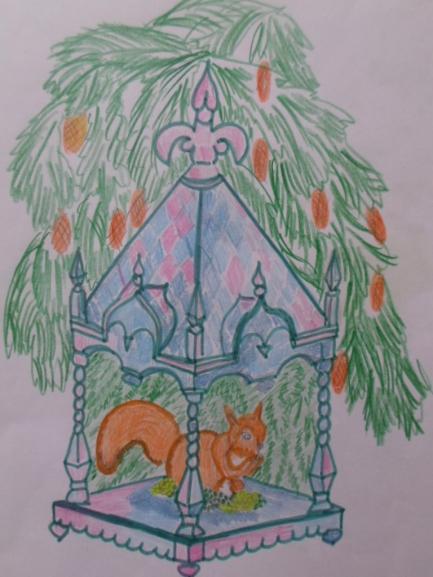 Домик белки из сказки о царе салтане картинки