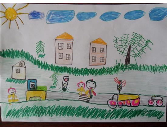 Конкурс рисунков детей по пдд для детского сада