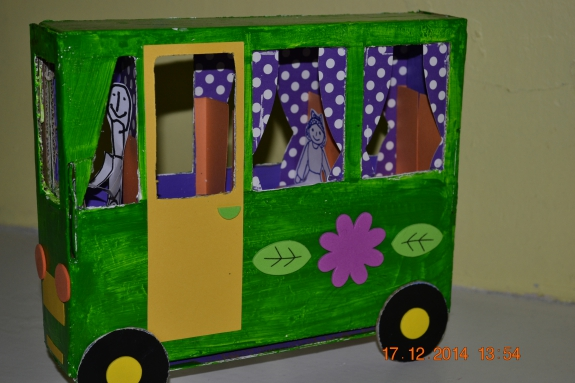 Автобус из коробки своими руками
