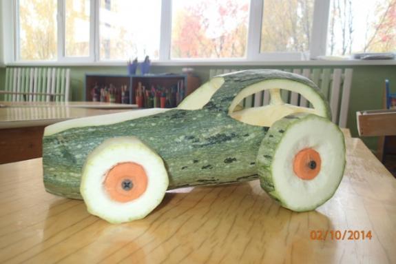 Машина из кабачка своими руками фото пошагово
