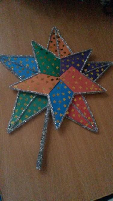Поделка вифлеемская звезда и рождество 25