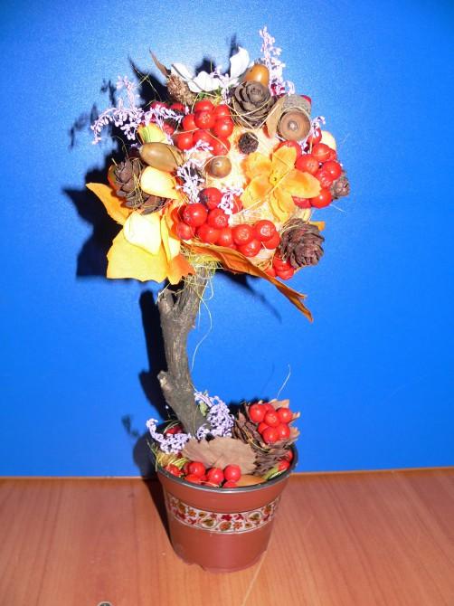 Осенний топиарий своими руками фото 63