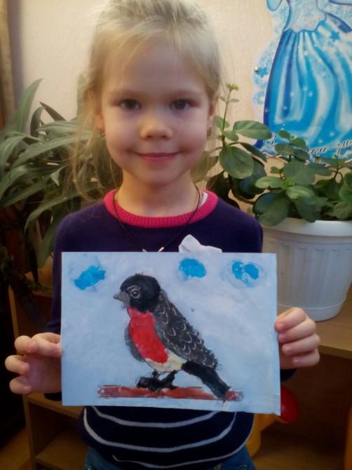 Снегири конкурс детских рисунков 2017