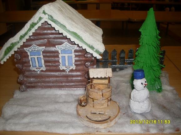 Merino детское творчество поделки дом для дедушки мороза компания