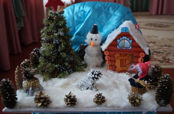 Новогодний букет своими руками фото для детского сада